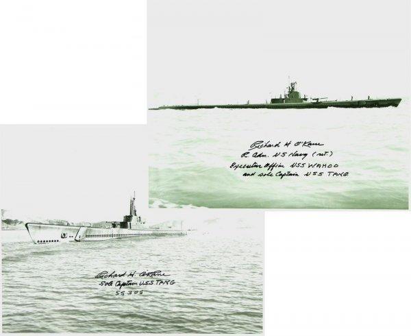 253: USS TANG: ADMIRAL RICHARD O'KANE SIGNED PHOTO