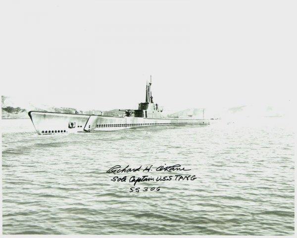 253: USS TANG: ADMIRAL RICHARD O'KANE SIGNED PHOTO - 2