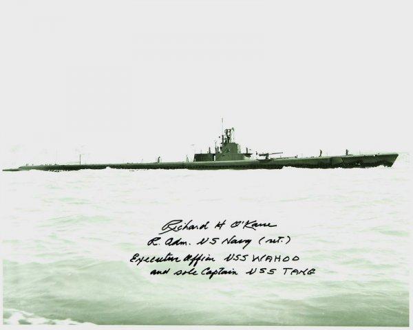 253: USS TANG: ADMIRAL RICHARD O'KANE SIGNED PHOTO - 3