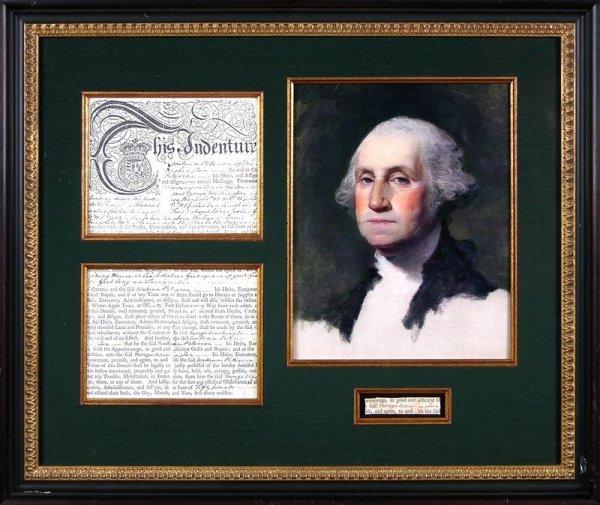 479: GEORGE WASHINGTON SIGNED SIGNATURE DISPLAY