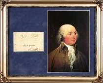 482: JOHN ADAMS SIGNED SIGNATURE W/PORTRAIT DISPLAY