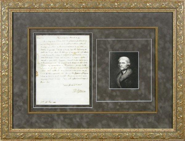 483: THOMAS JEFFERSON HANDWRITTEN SIGNED LETTER
