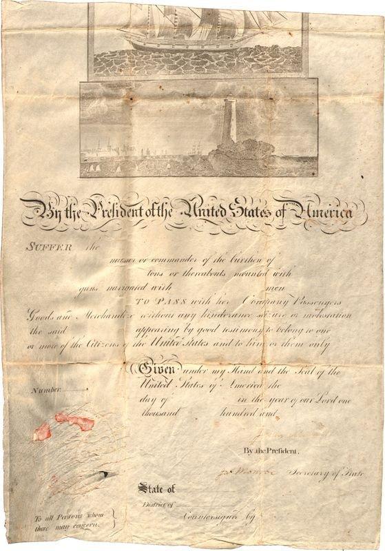 488: JAMES MADISON & JAMES MONROE SIGNED DOCUMENT