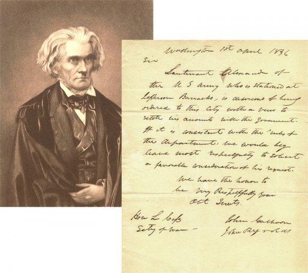 494: JOHN C. CALHOUN HANDWRITTEN SIGNED LETTER