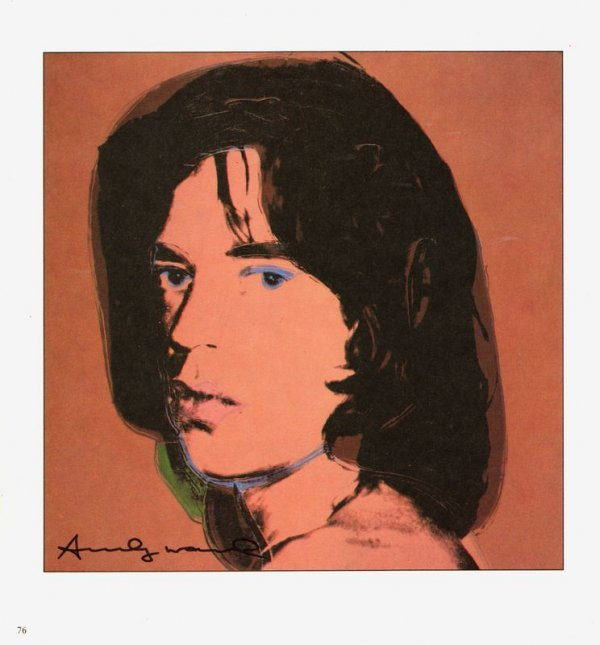 731: ANDY WARHOL SIGNED BOOK PRINT OF MICK JAGGER