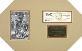 785: JAMES FENIMORE COOPER SIGNED CHECK W/ENGRAVING