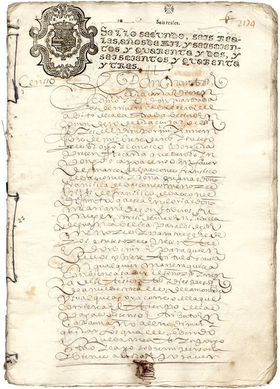 0007: LATE AZTEC ROYAL DOCUMENT SIGNED FROM PERU