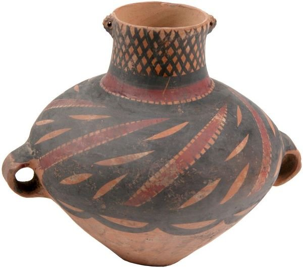 0014: NEOLITHIC CHINESE POTTERY JAR
