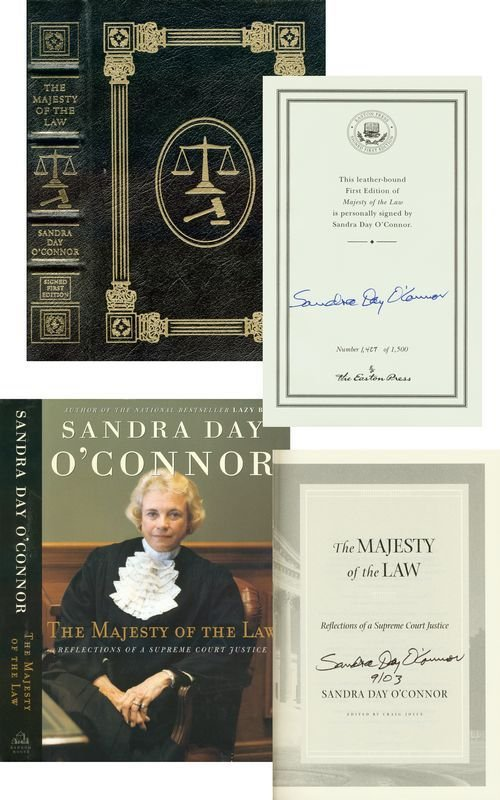 0358: SANDRA DAY O'CONNOR SIGNED BOOK LIMITED EDITION