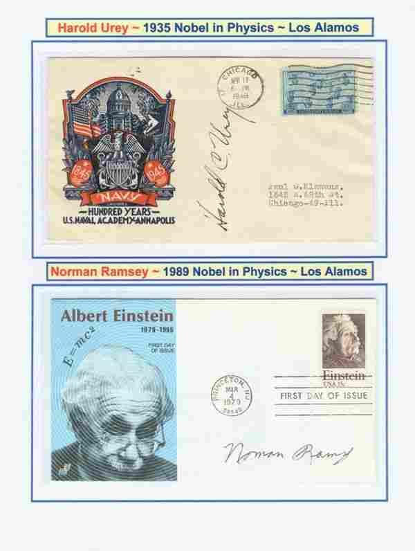 HAROLD UREY & NORMAN RAMSEY SIGNED COVERS