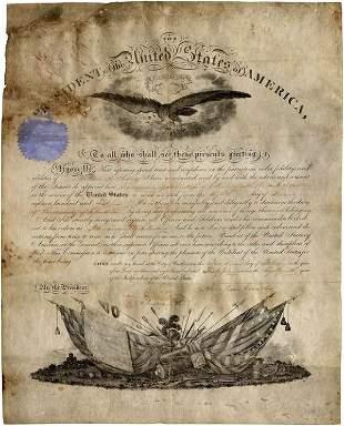PRESIDENT ABRAHAM LINCOLN SIGNED DOCUMENT