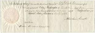 ABRAHAM LINCOLN SIGNED DOCUMENT W/ SEWARD
