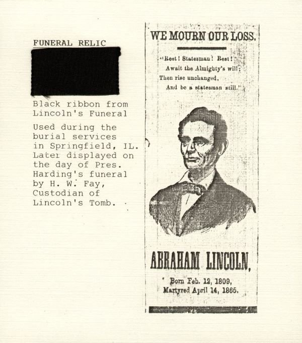 0486: LINCOLN FUNERAL RIBBON