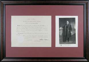 CHESTER A. ARTHUR SIGNED DOCUMENT AS PRESIDENT