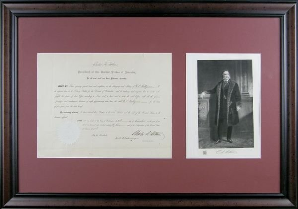 0491: CHESTER A. ARTHUR SIGNED DOCUMENT AS PRESIDENT