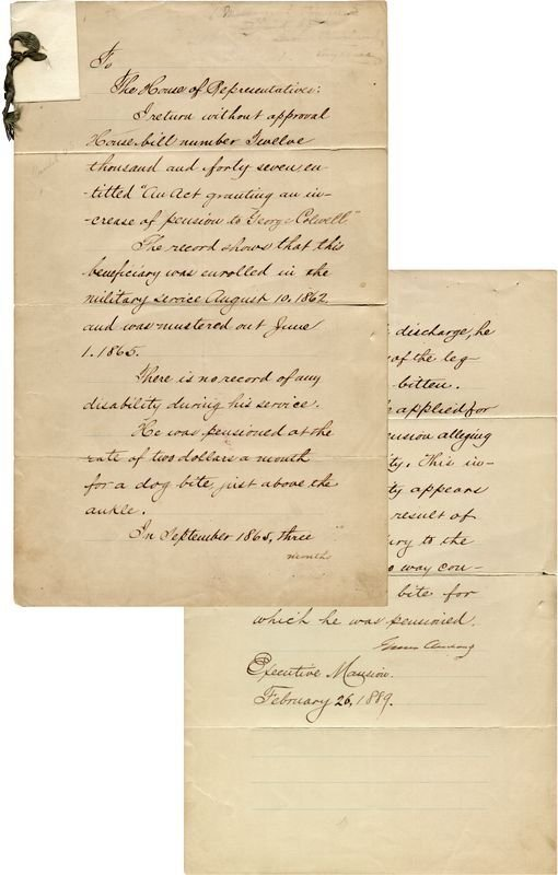 0492: UNCOMMON GROVER CLEVELAND DOCUMENT SIGNED