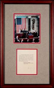 0532: JOHN KENNEDY STATE OF THE UNION SIGNED QUOTE