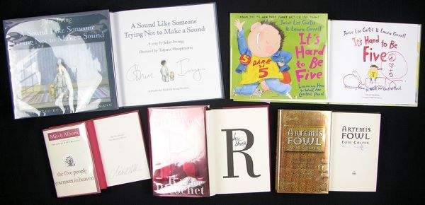 0638: 17 AUTHOR SIGNED BOOKS CLANCY BROWN UPDIKE & MORE