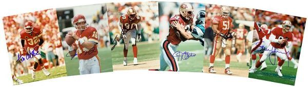 49ERS SIGNED PHOTOGRAPHS MONTANA RICE YOUNG