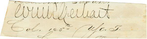 WILLIAM GERHART SIGNED SIGNATURE 125TH INFANTRY