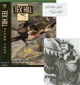 0269 TEX HILL SIGNED FLYING TIGER BOOK