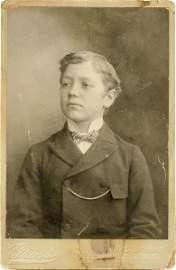 0277: YOUNG GEORGE PATTON JR EARLY CABINET PHOTO
