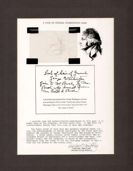 0468: GEORGE WASHINGTON LOCK OF HAIR
