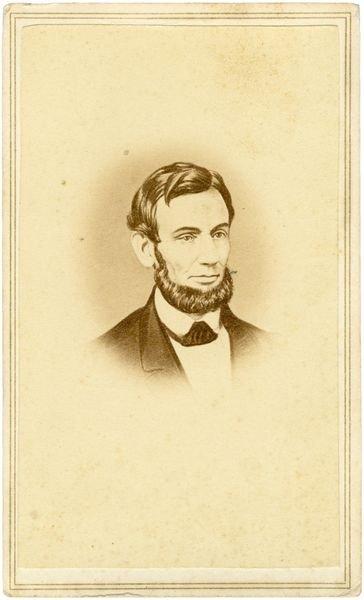 0487: ABRAHAM LINCOLN CDV PORTRAIT