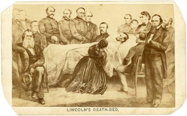 0488: ABRAHAM LINCOLN DEATHBED SCENE CDV