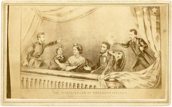 0489: CDV PORTRAIT OF LINCOLN ASSASSINATION
