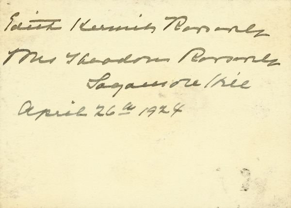 0516: ELEANOR & EDITH KERMIT ROOSEVELT SIGNATURES - 2