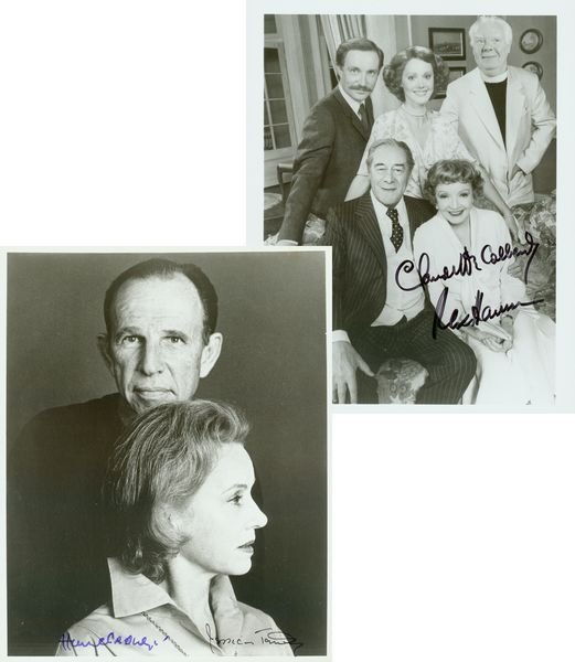 0880: SIGNED STAGE PICS CRONYN TANDY HARRISON COLBERT