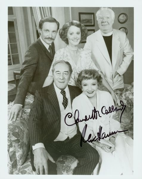 0880: SIGNED STAGE PICS CRONYN TANDY HARRISON COLBERT - 2