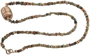 NECKLACE WITH SCARAB AMULET
