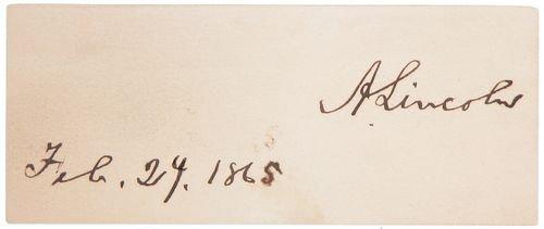 0492: ABRAHAM LINCOLN