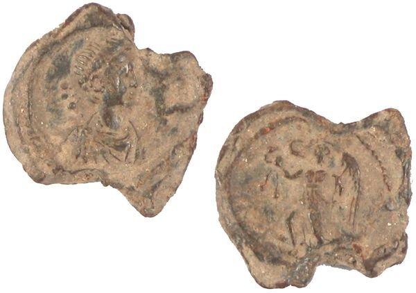 0009: ROMAN EMPEROR GRATIAN LEAD SEAL