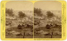 0240 BATTLE OF GETTYSBURG  BLOODY ANGLE STEREOGRAPH