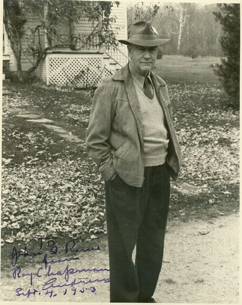 0527: ROY CHAPMAN ANDREWS SIGNED PHOTO