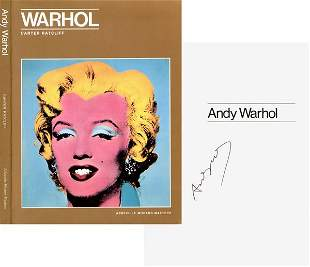ANDY WARHOL SIGNED BIOGRAPHY BOOK