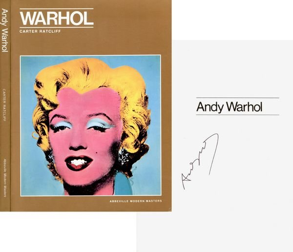 0769: ANDY WARHOL SIGNED BIOGRAPHY BOOK