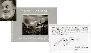 ANSEL ADAMS SIGNED ART BOOK - YOSEMITE