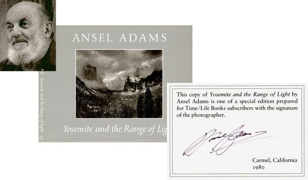 0770: ANSEL ADAMS SIGNED ART BOOK -  YOSEMITE