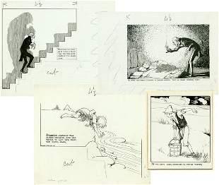 ARTIST HONOR C APPLETON SIGNED ORIGINAL DRAWINGS