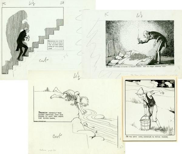 0771: ARTIST HONOR C APPLETON SIGNED ORIGINAL DRAWINGS