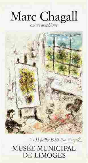 MARC CHAGALL SIGNED POSTER LITHOGRAPH