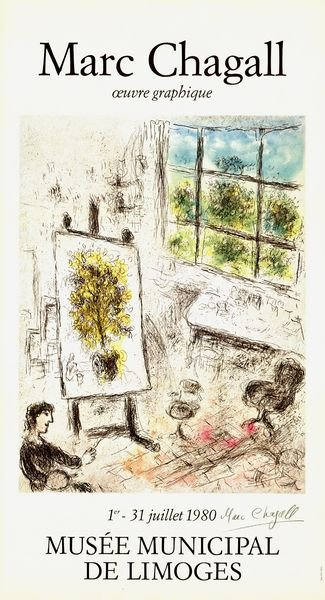 0773: MARC CHAGALL SIGNED POSTER LITHOGRAPH