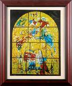 0774 MARC CHAGALL SIGNED WINDOWS LITHOGRAPH