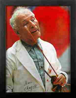 MARC CHAGALL SIGNED COLOR PHOTO