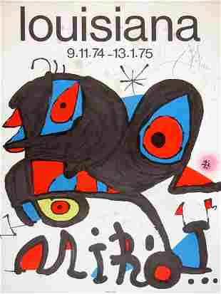 JOAN MIRO SIGNED POSTER LITHOGRAPH