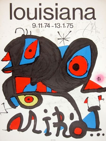 0782: JOAN MIRO SIGNED POSTER LITHOGRAPH